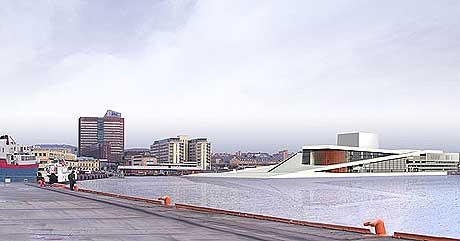 Grunnstensnedleggelsen til den nye Operaen skal være moderne. Foto: Snøhetta.