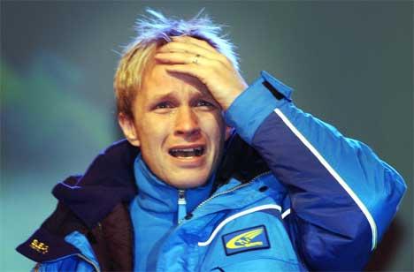 Rørt til tårer over mottakelsen i Spydeberg. (Foto: Heiko Junge/Scanpix)