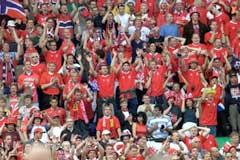 Norske supportere ble hyllet i fransk presse. (Foto: Tor Richardsen / Scanpix)