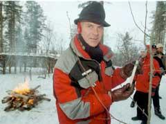 Anders Besseberg fyrte opp bålene under VM i Kontiolahti i 1999. (Foto: Søren Waldin, SCANPIX, Sverige)