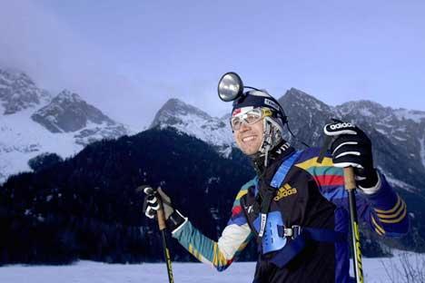 Ole Einar Bjørndalen driver ofte høydetrening i Anterselva. (Foto: Erlend Aas / SCANPIX)