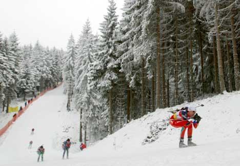 Snørikt i Oberhof i fjor. (Foto: Knut Fjeldstad / SCANPIX)