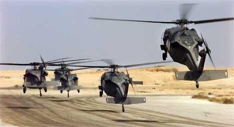 Det var to helikopter av denne typen som styrtet nær Mosul i går. Minst 17 amerikanske soldater ble drept. (Scanpix-foto)