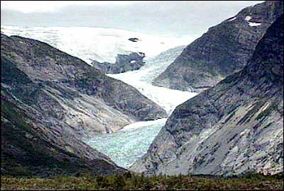 Nigardsbreen i 1991. (Foto: NRK)