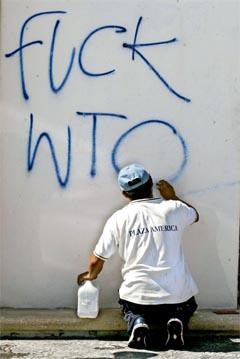 WTO-demonstrant i Cancun. Foto: AFP/Scanpix.