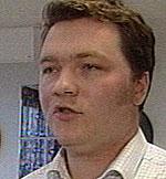 Marcus Hareide Gabenius, leder SkoleLinux (foto: NRK)