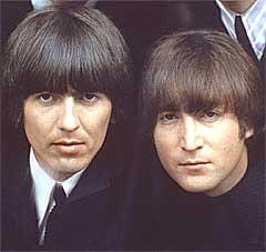 Det var George Harrison og John Lennon som var mest begeistret for Phil Spectors produksjonsideer. Foto: Robert Freeman, AP.