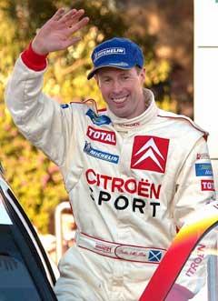 Colin McRae etter 2. plassen i Rally Monte Carlo i 2003. (Foto: AFP/Scanpix)