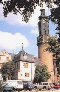 Bare tårnet står igjen av slottet og fengslet i Weimar (bilder: promo)