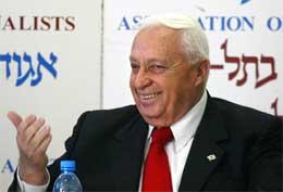 Israels statsminister Ariel Sharon lovar å trape opp arbeidet med den omstridde tryggingsmuren. (AFP-Scanpix-foto)