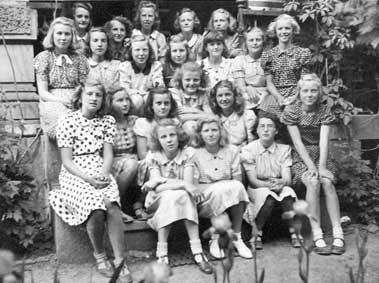 Klasse 7c Majorstua skole 11. juni 1941 etter folkeskoleeksamen