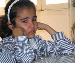 Fetteren hennes ble drept da soldatene ødela huset hun bodde i.