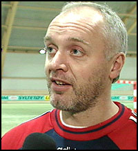 FK Haugesunds Harald Aabrekk har sikret seg en god spiss før neste sesong. Foto: NRK.