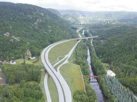 Her ender den nye veien, på Kleppland i Søgne