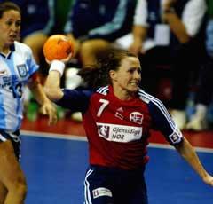Monica Sandve ble norsk toppscorer med sju mål. (Foto: Morten Holm/Scanpix)