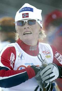 Hilde Gjermundshaug Pedersen ble beste norske på 5. plass (Foto: Jon Eeg / SCANPIX)