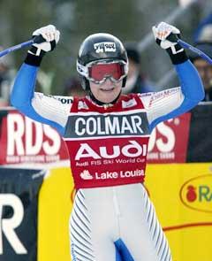 Carole Montillet vant i Cortina. (Foto: Reuters/Scanpix)