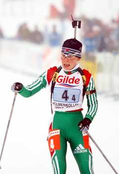 Olena Zubrilova er en av flere kvinnelige skiskyttere som er 158 cm høy. (Foto: Knut Fjeldstad / SCANPIX)