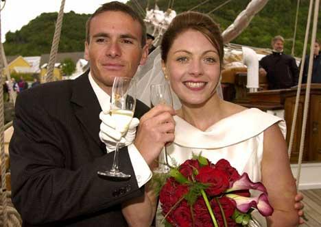 Liv Grete Skjelbreid og Raphael Poiree giftet sommeren 2000. (Foto: Tor Erik H. Mathiesen / SCANPIX)