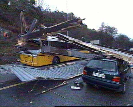 Fra ulykkesstedet i Hannevika