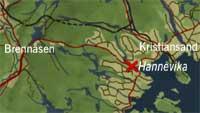 Ulykken skjedde i Hannevika på E39 vest for Kristiansand Sentrum.
