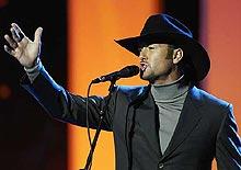 Tim McGraw var en av de store internasjonale artistene i årets Nobel-konsert