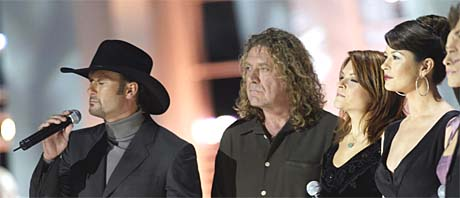 Tim McGraw, Robert Plant, Rosanne Cash, Catherine Zeta-Jones. Foto: Scanpix