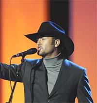 Tim McGraw fremførte hestejazz av beste merke. Foto: Terje Bendiksby