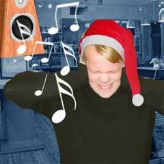 Butikkansatte i Østerrikke sier julemusikken ikke er til å holde ut. Illustrasjon: NRK Grafikk