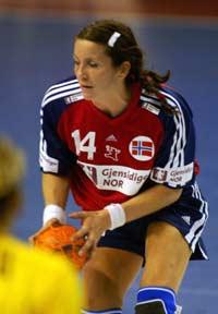 Elisabeth Hilmo mot Romania (Foto: Scanpix/Morten Holm)