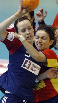 Katrine Lundes 10 mål hjalp ikke til norsk seier. (Foto; Scanpix)