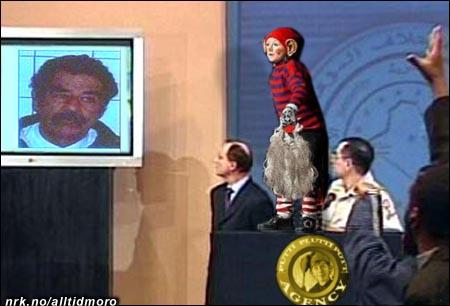 En PPP-agent forteller under dagens pressekonferanse hvordan de fant skjegget.