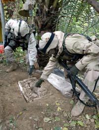 Saddams skjulested (Foto: L.Rebours, AP)