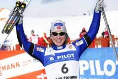 Marit Bjørgen vant kvinnesprinten. (Foto: Tor Richardsen / SCANPIX)