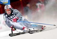 Lasse Kjus i første omgang i Alta Badia. (Foto: AFP/Scanpix)