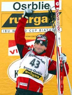 Raphael Poiree vant jakstarten i Osrblie. (Foto: AP/Scanpix)