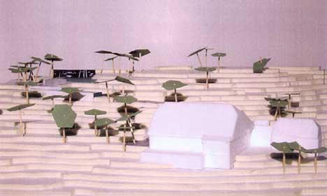 Modell fra arkitektfirmaet Lund Hagem