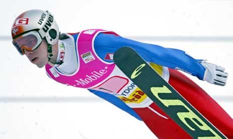 Sigurd Pettersen i første omgang i Oberstdorf. (Foto: AFP/Scanpix)