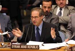 Syrias FN-ambassadør Faisal Mekdad (Scanpix/AP)