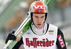 Sigurd Pettersen fullt konsentrert i Garmisch. (Foto: AFP/Scanpix)