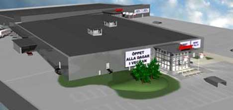 Åpningen av Nordby Shoppingcenter betyr 500 nye jobber i grensehandelen. Senteret åpner i juni 2004. Foto: Nordby shoppingcenter