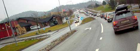 Køene til Svinesund vil bli borte med ny E6 og ny Svinesund bro. Foto Rainer Prang NRK.