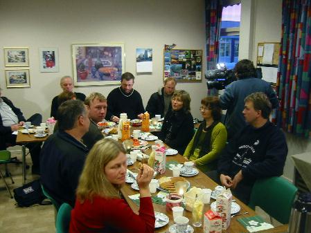 Det nye mattilsynet i Romsdal presenterte seg med frokost for medarbeidere og presse. Foto: Gunnar Sandvik.