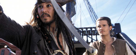 Johnny Depp og Orlando Bloom var de mest populære på amreikansk kino.