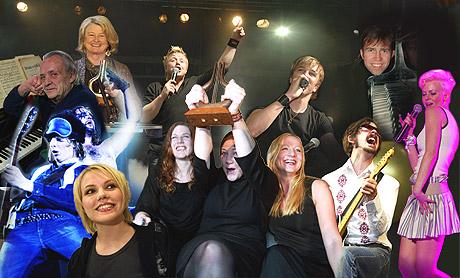 Noen av de som vant Spellemannpriser i 2003. Men hvor uavhengige er de som bestemmer hvem som skal nomineres? Foto: Arkiv.