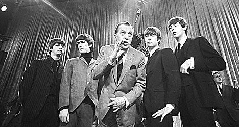 The Beatles opptrer på det legendarisk tv-programmet The Ed Sullivan Show 9. februar 1964. Foto: AP Photo.