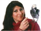 Dr. Irene Pepperberg og hennes grå papagøye Alex. Foto: MIT
