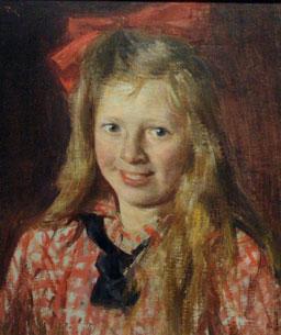 Fredrik Kolstø: Portrett av pike (udatert)