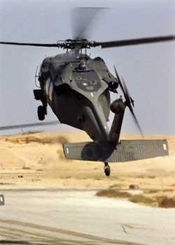 Det var et slikt helikopter som nødlandet ved Falluja torsdag. (Foto: Scanpix / AFP / Jim Varhegyi / Ho)