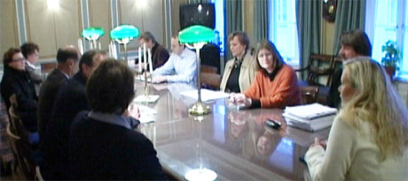 Partane vart einige i eit møte med byråden fredag. Foto: Jo Hjelle, NRK